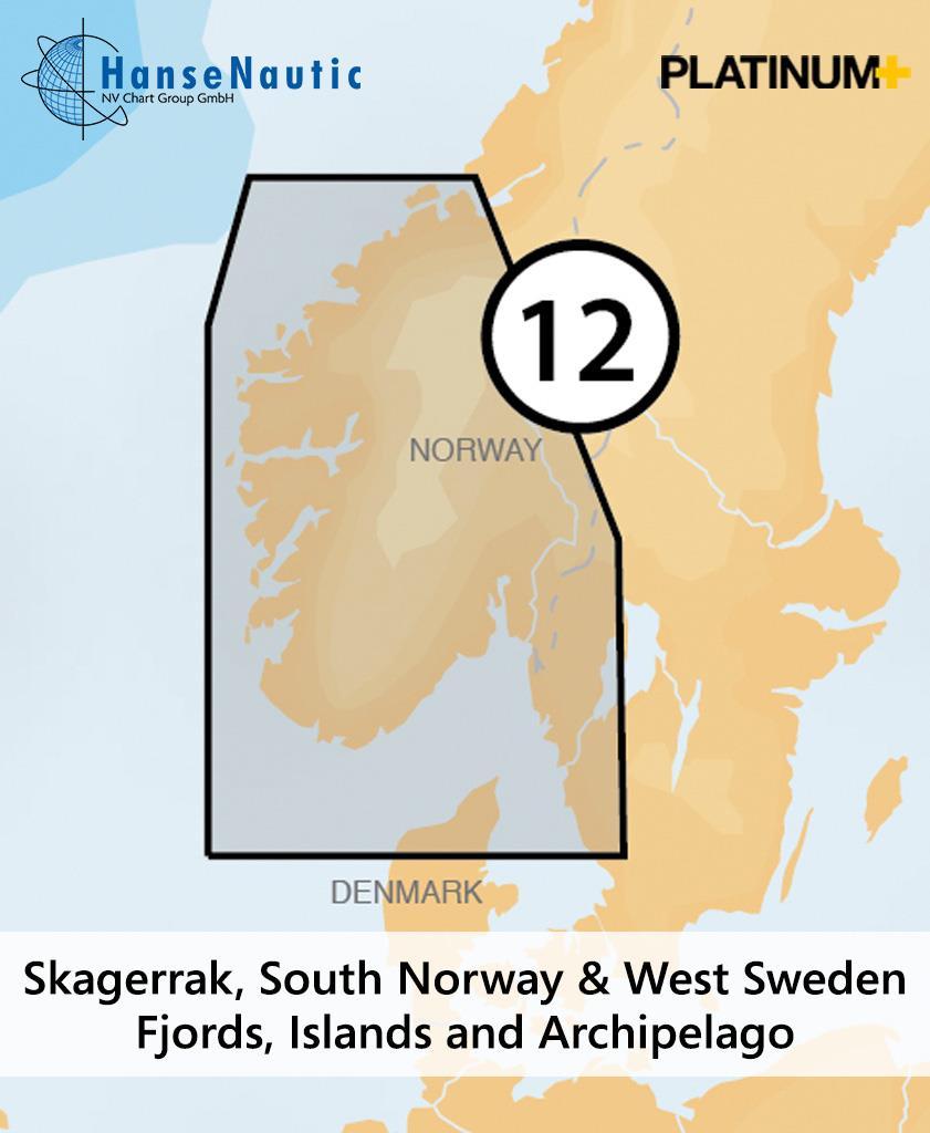 Navionics Platinum+ Skagerrak, Süd-Norwegen, West-Schweden (12P+)