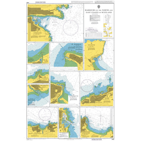 Harbours on the North and East Coasts of Scotland. UKHO1462