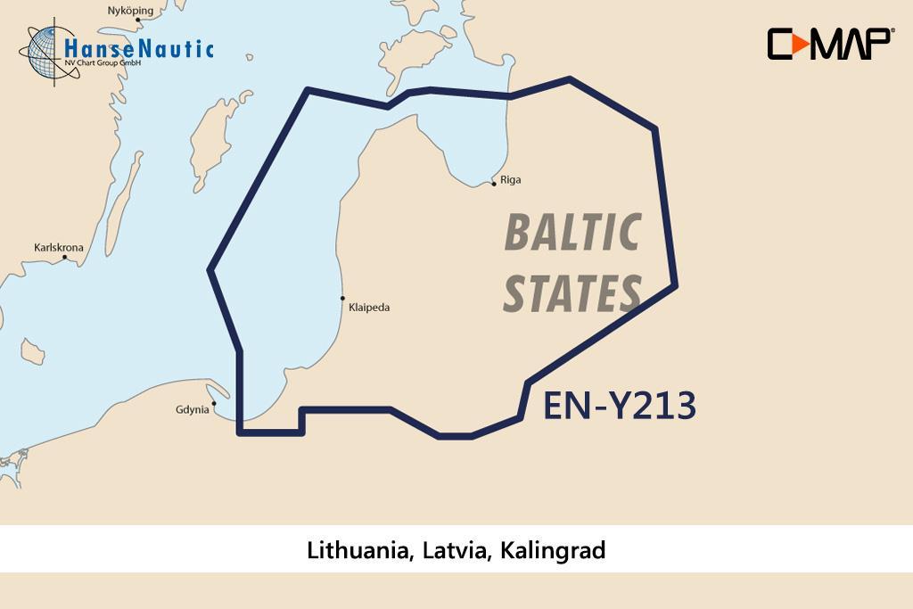 C-MAP Discover Litauen, Lettland, Kaliningrad EN-Y213
