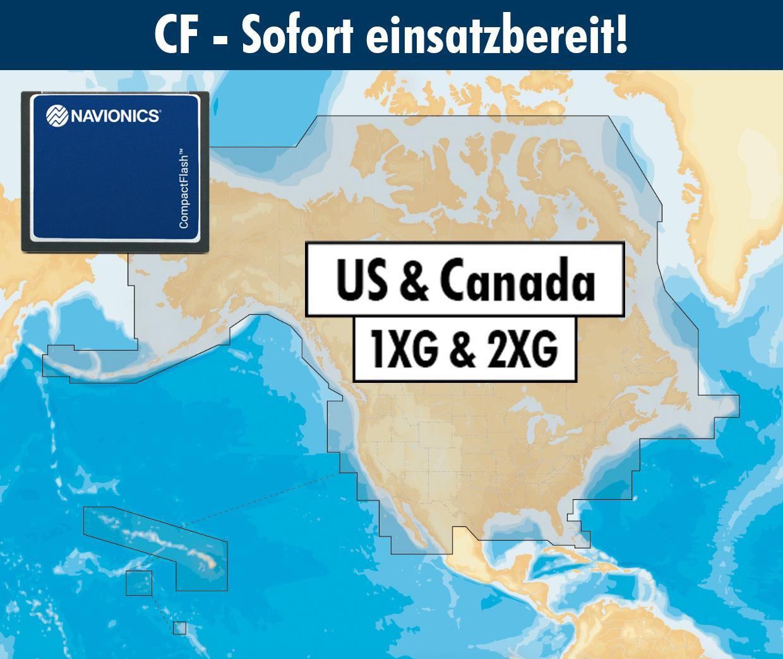 Navionics+ CF USA & Kanada (1XG,2XG combi)