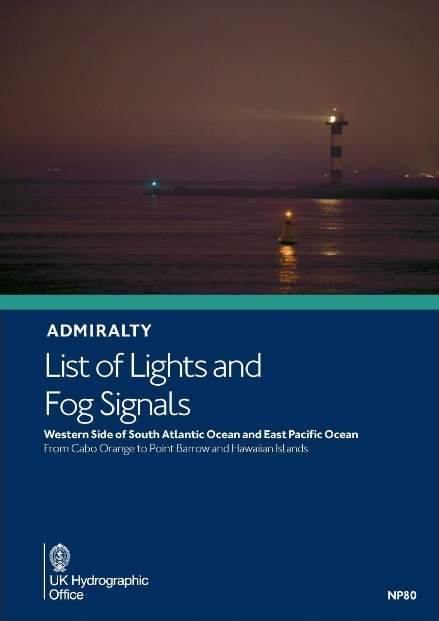 ADMIRALTY NP80 Lights List G - SouthAmerica & WestCoast North America