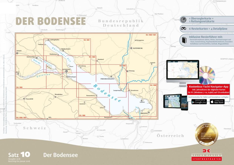 Sportbootkarten Satz 10: Bodensee, Delius Klasing