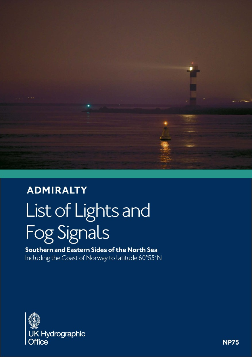 ADMIRALTY NP75 Lights List Vol B - S & E sides of North Sea