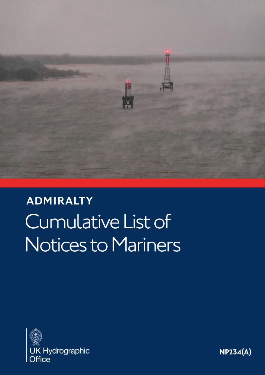 ADMIRALTY NP234A Cumulative List of Notices to Mariners