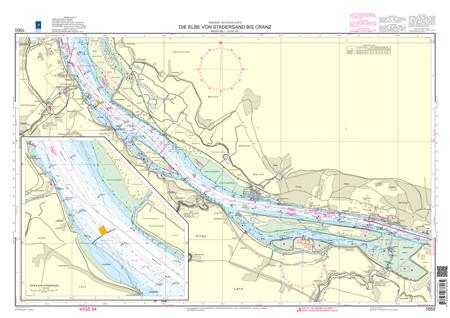 BSH 1660 Die Elbe von Stadersand bis Cranz