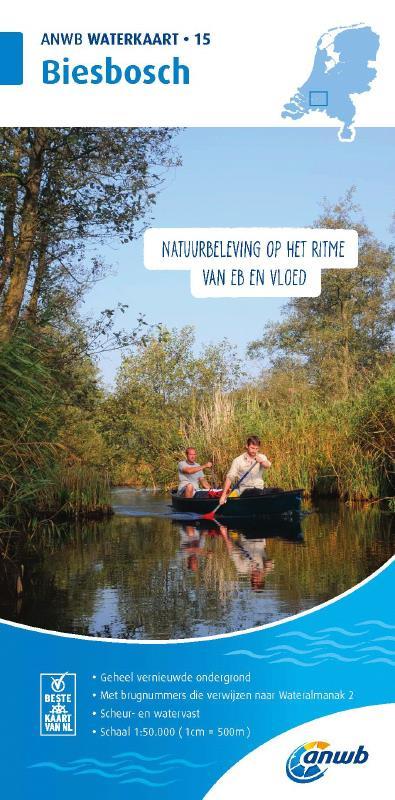 ANWB Waterkaart 15 - Biesbosch