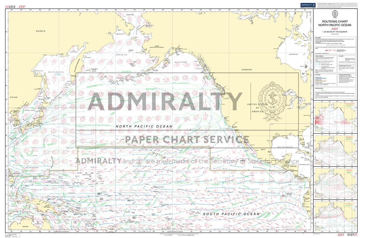 ADMIRALTY Routeing Charts North-Pacific 5127