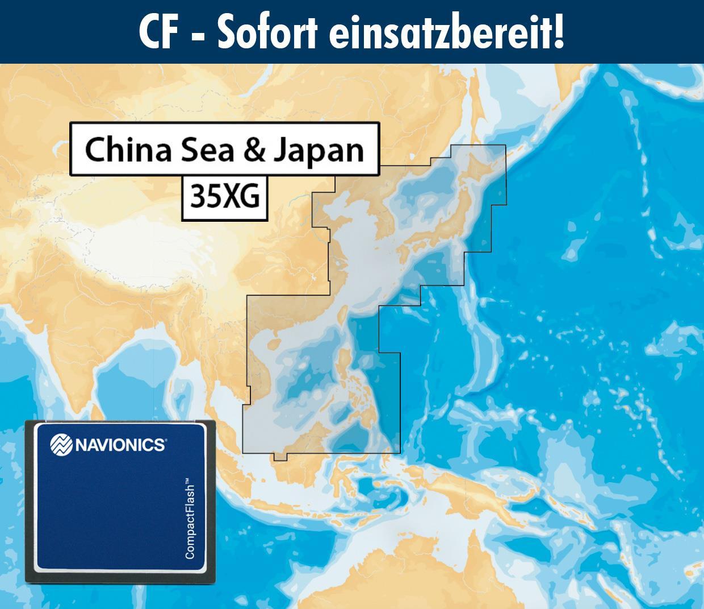 Navionics+ CF 35XG China und Ostasiatische Küste von Singapur bis Japan (China Sea)