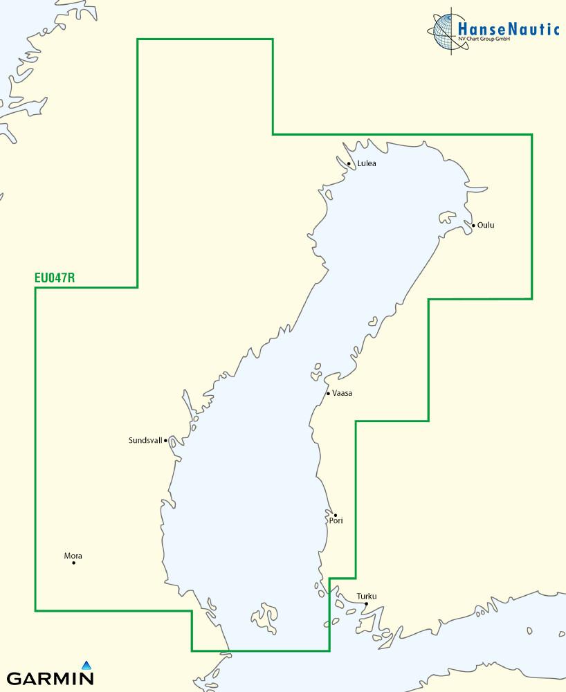 BlueChart Ostsee, Bottnischer Meerbusen (Gulf of Bothnia, Kalix-Grisslehamn) g3 XEU047R