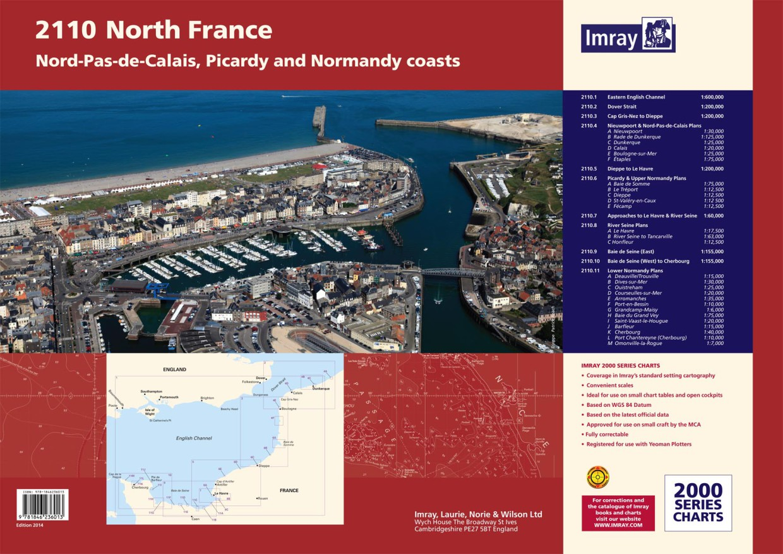 IMRAY 2110  North France Chart Atlas