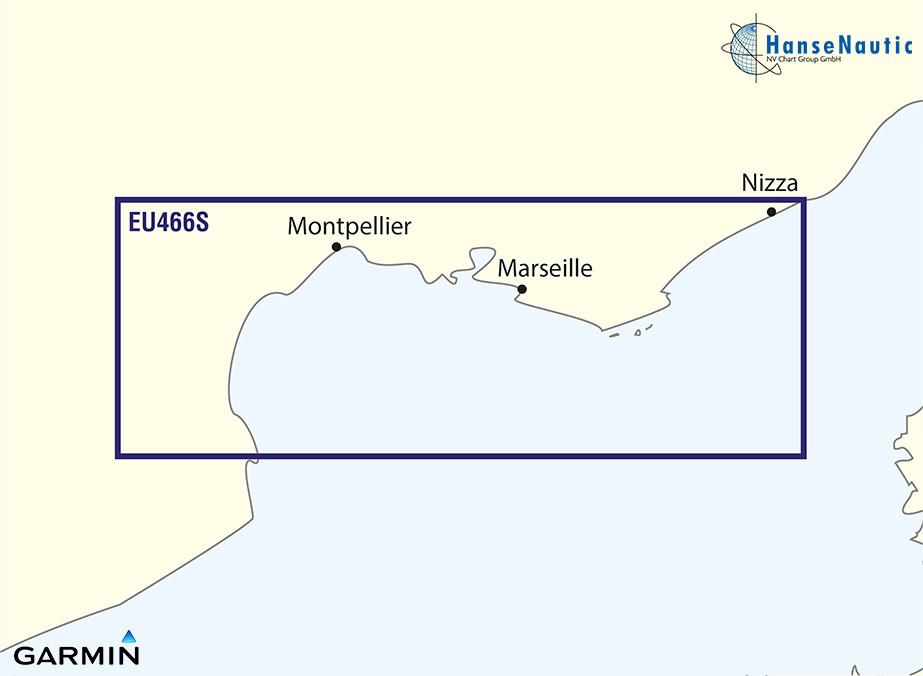 BlueChart Mittelmeer französische Südküste (Golfe Du Lion-San Remo) g3 Vision VEU466S