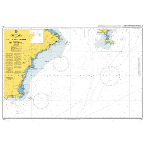 Cartagena to Cabo de San Antonio including Isla Formentera. UKHO1700