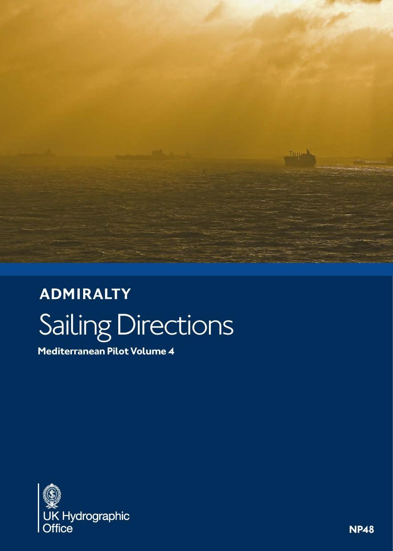 ADMIRALTY NP48 Mediterranean Pilot Vol 4 - Seehandbuch