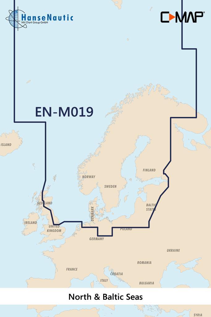 C-MAP MAX MegaWide EN-M019 North & Baltic Seas