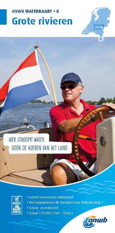 ANWB Waterkaart 8 - Grote Rivieren