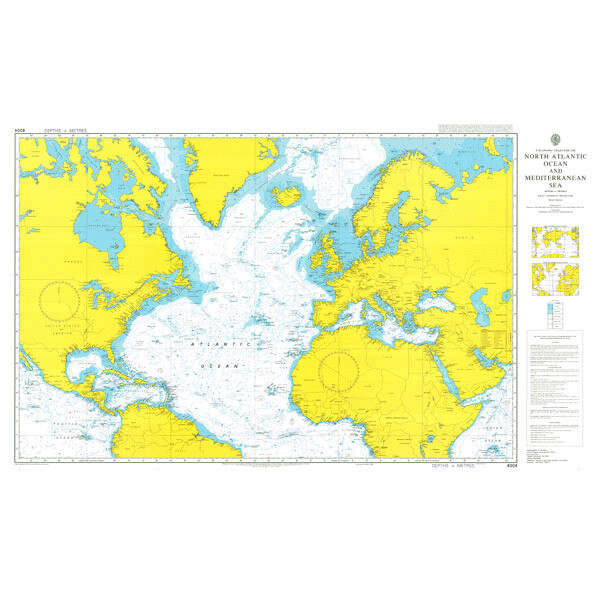 A Planning Chart for the North Atlantic Ocean and Mediterranean Sea. UKHO4004
