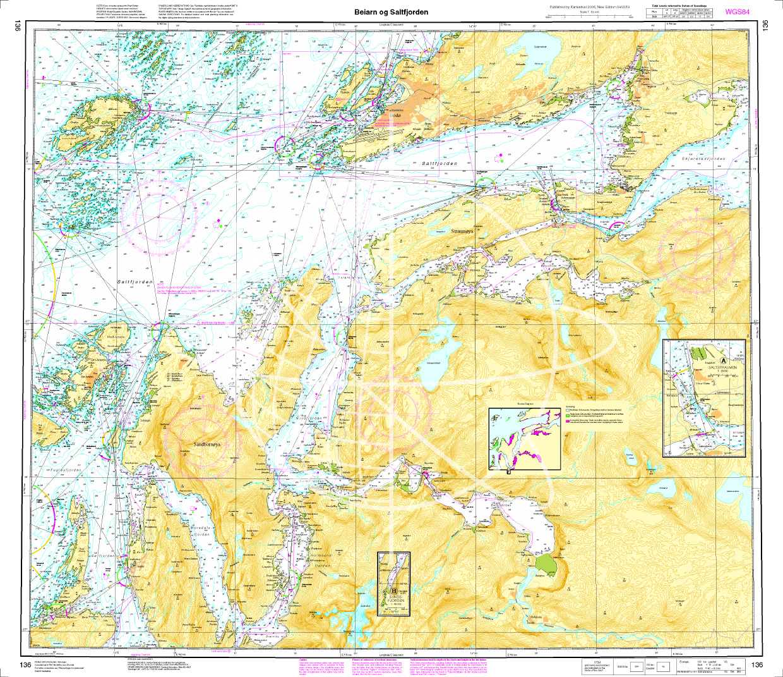 Norwegen N 136 Atlantik Beiarn - Saltfjorden.