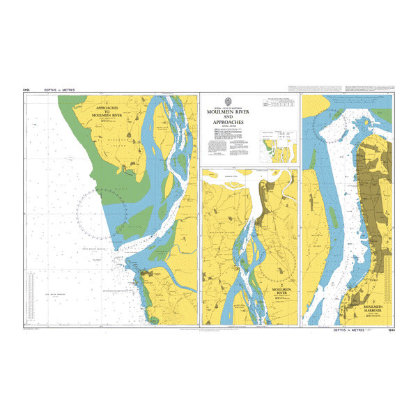 Mawlamyine (Moulmein) River and Approaches. UKHO1845