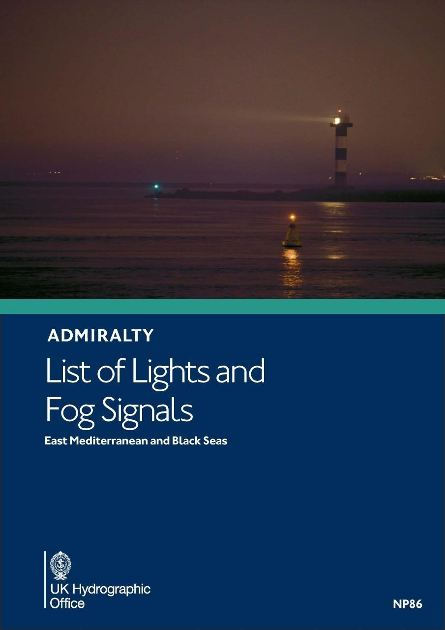 ADMIRALTY NP86 Lights List N - East Mediterranean & Black Seas