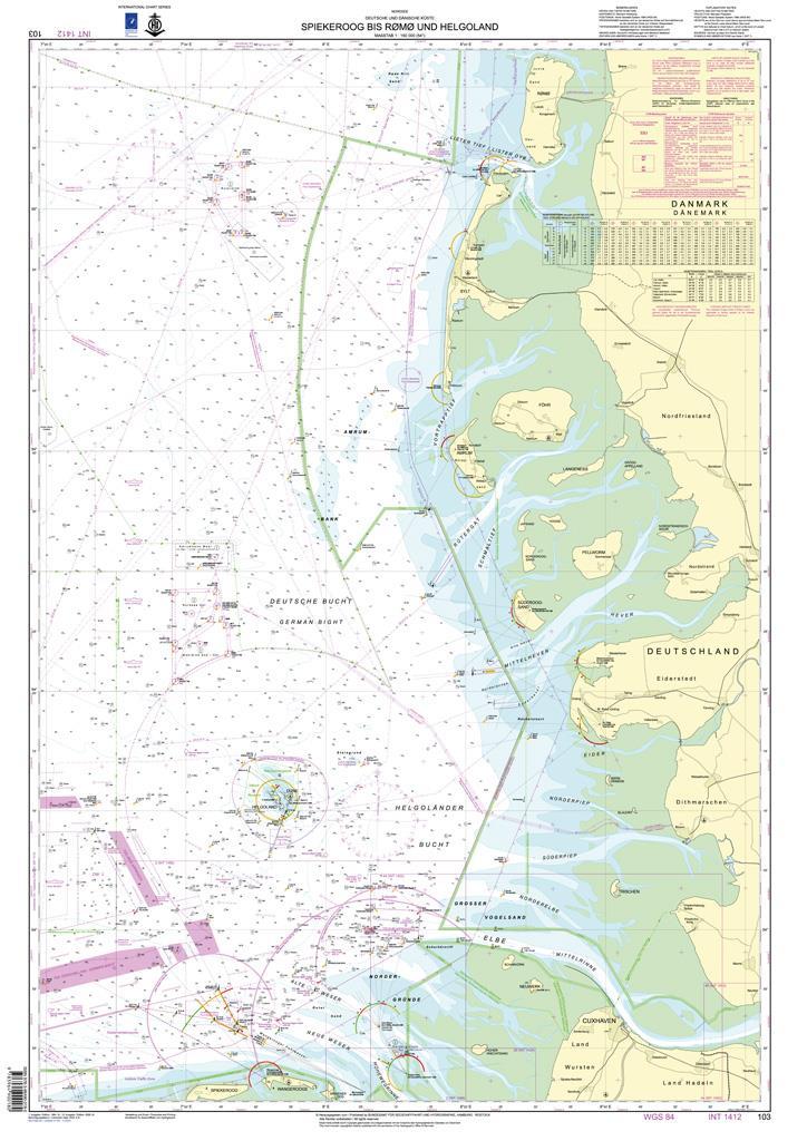 DE103 Nordfriesland, Spiekeroog bis Rømø u. Helgoland