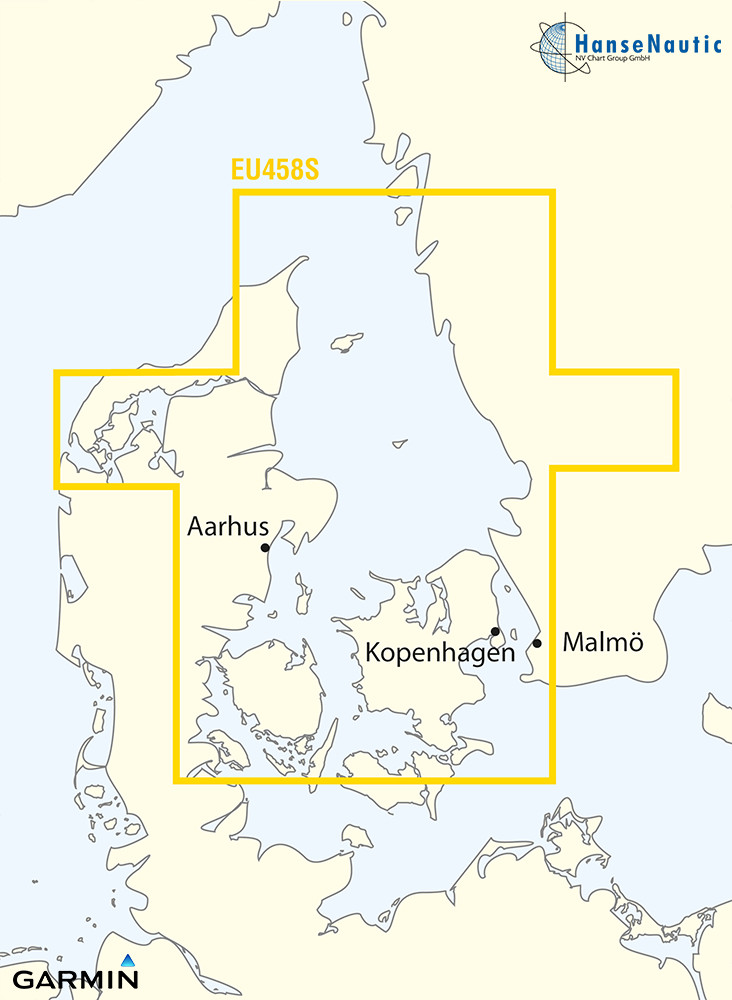 BlueChart Ostsee - Belte u. Sund, Kattegat (Göteborg-Fyn) g3 Vision VEU458S