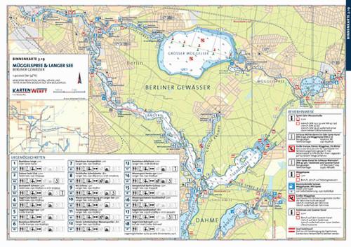 Müggelspree & Langer See/Müggelsee - Binnenkarte