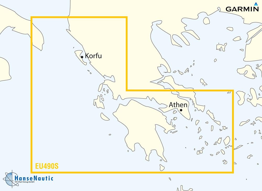 BlueChart Mittelmeer, Ionisches Meer u. Peloponnes (Greece West Coast, Athens) g3 Vision VEU490S