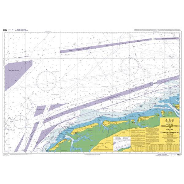TSS North Friesland and GW/EMS to Vlieland and Borkum. UKHO1633
