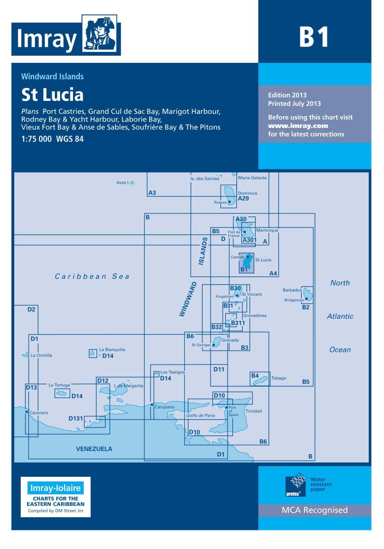 IMRAY CHART B1 St Lucia