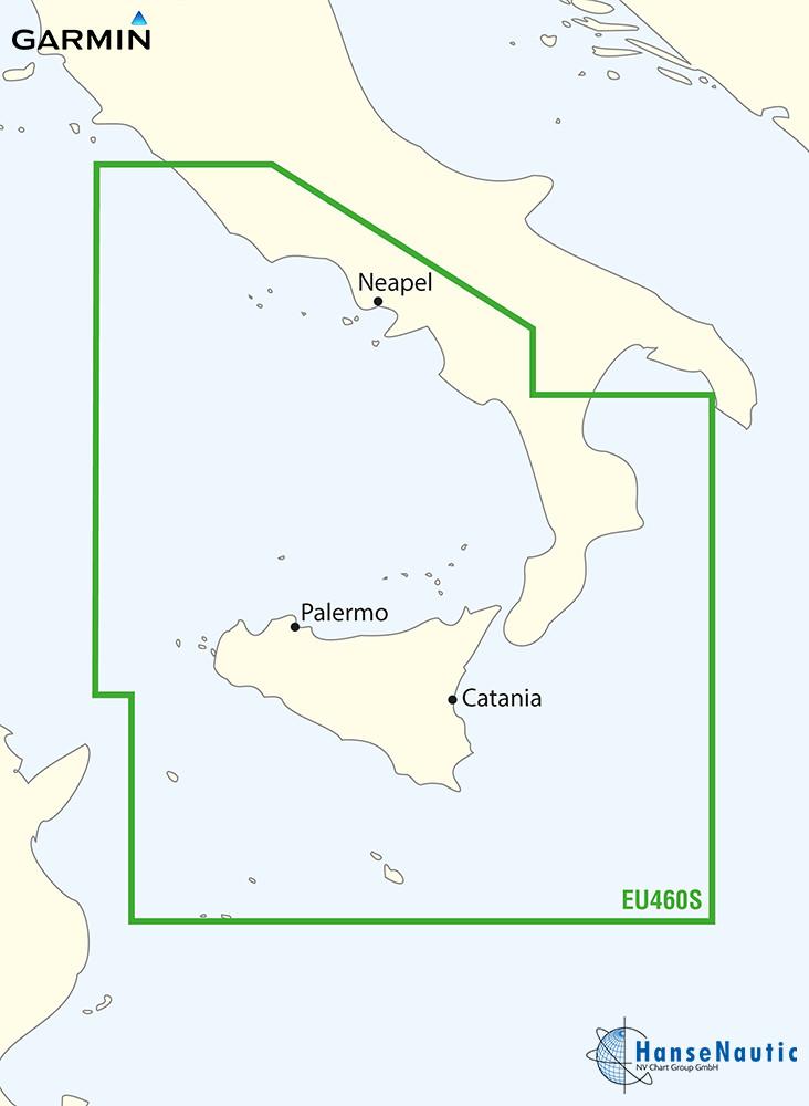 BlueChart Mittelmeer - Süd-Italien, Sizilien, Malta - g3 Vision VEU460S