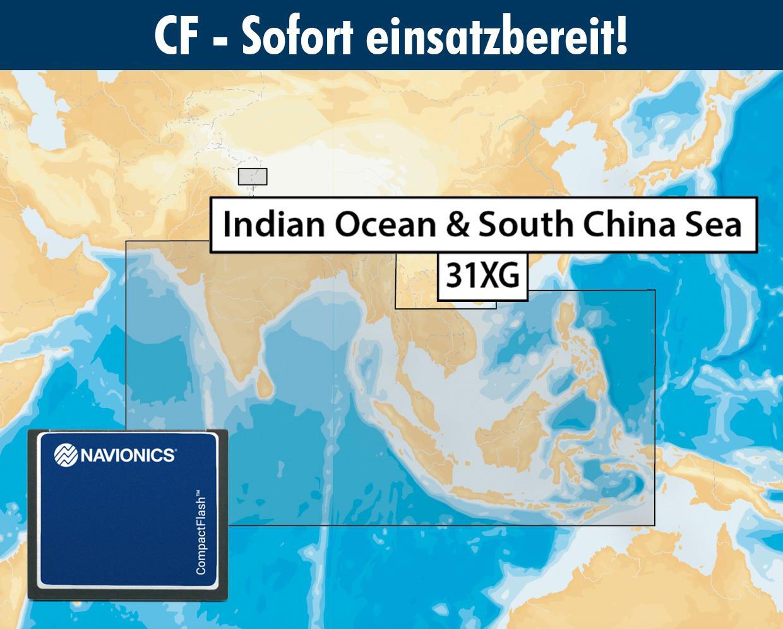 Navionics+ CF 31XG Indischer Ozean, Indonesien bis Südchinesischem Meer (Indic & South China Sea)