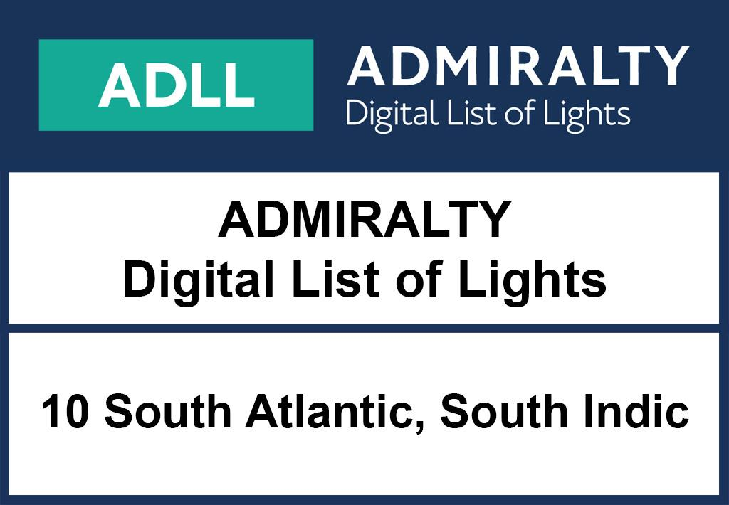 ADMIRALTY DigitalLightsList - Area 10 South Atlantic and Indian Ocean (South)