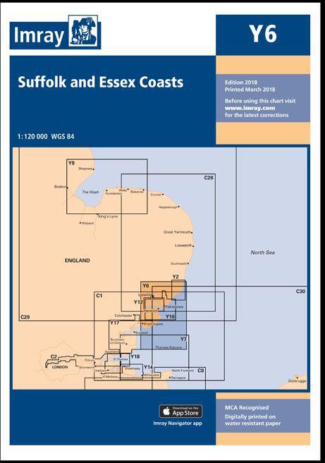 IMRAY CHART Y 6 Suffolk and Essex Coasts