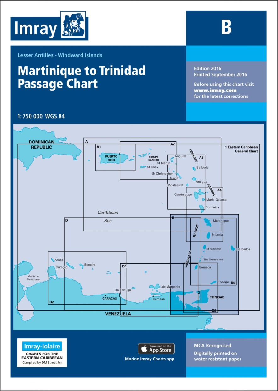 IMRAY CHART B Martinique to Trinidad Passage