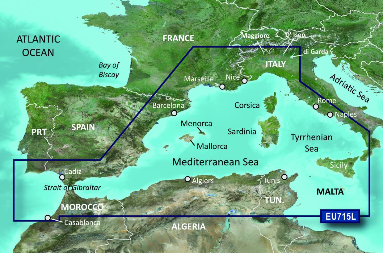 BlueChart g2 Vision Chip Large VEU715L-Mediterranean West