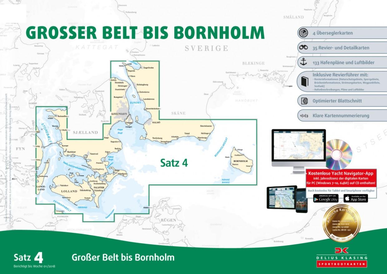 Sportbootkarten Satz 4: Großer Belt bis Bornholm, Delius Klasing