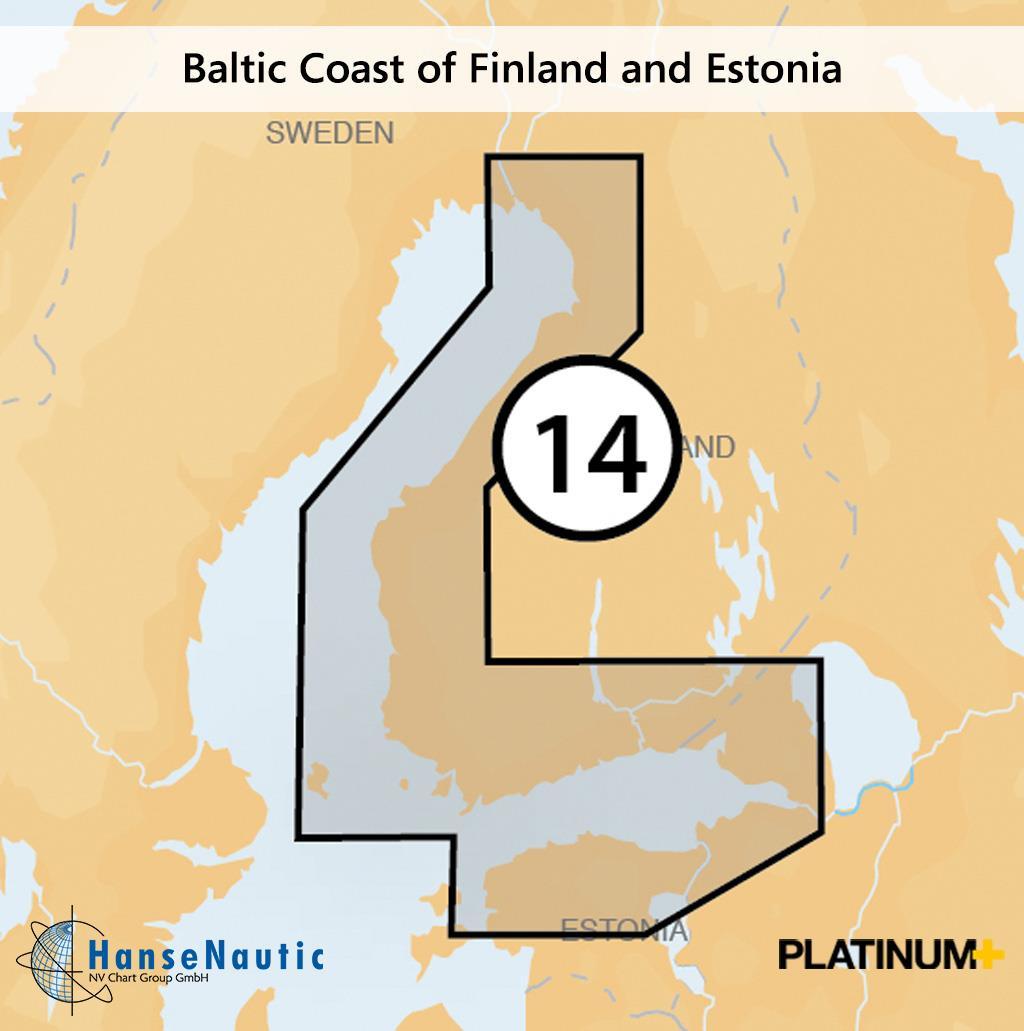 Navionics Platinum+ Ostseeküste von Finnland, Åland Inseln, Estland (14P+)