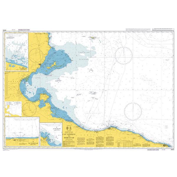Cap Afrique to Misratah. UKHO3403