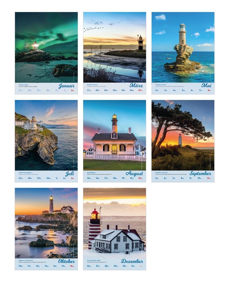 Leuchttürme der Welt 2022 (Kalender)