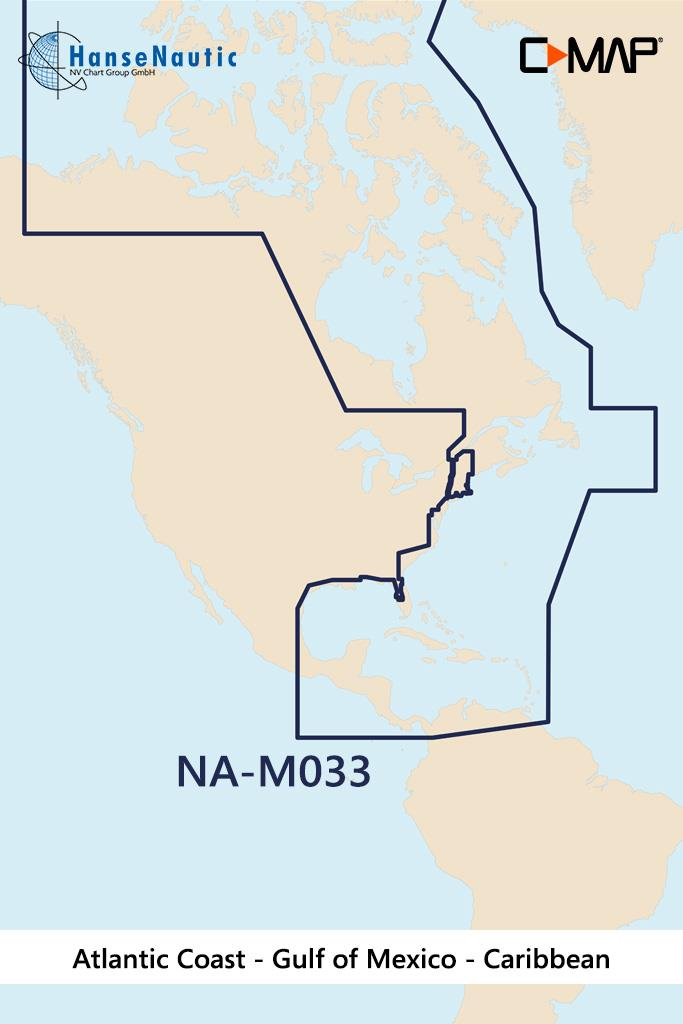 C-MAP MAX MegaWide NA-M033 Atl. Coast- Mex. Gulf- Caribbean