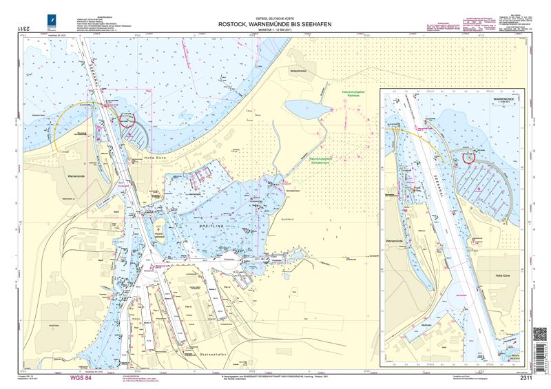 BSH 2311 Rostock, Warnemünde bis Seehafen