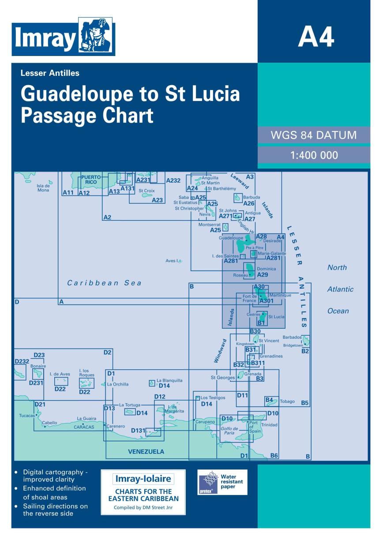 IMRAY CHART A4 Guadeloupe to St Lucia