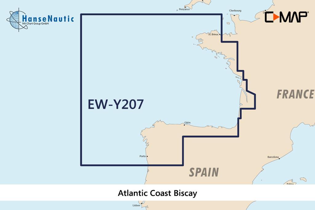 C-MAP Discover Atlantikküste Biskaya (Frankreich u. Nordspanien) EW-Y207