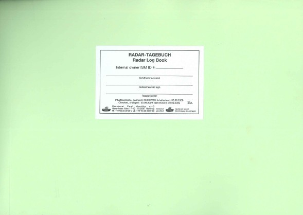 Radar-Tagebuch /Radar Logbook