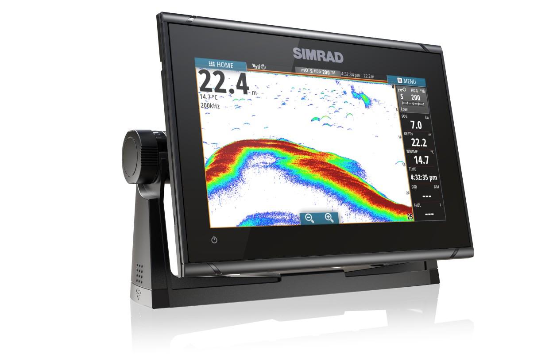 Simrad GO9 XSE Kartenplotter mit Med/High/Downscan Transducer