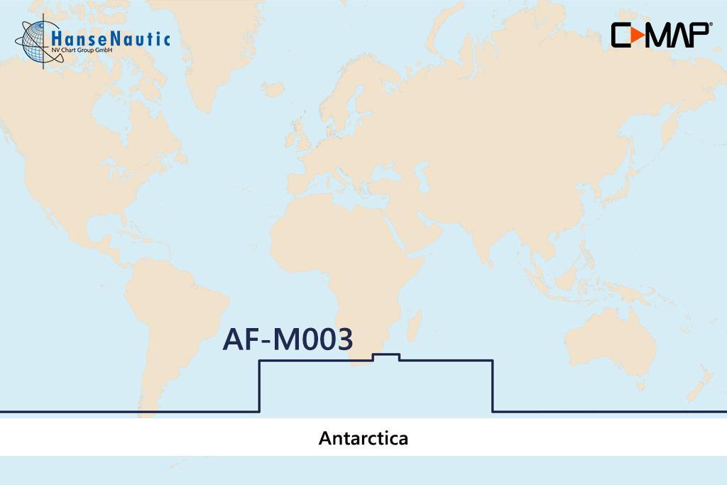 C-MAP MAX MegaWide AF-M003 Antarctica