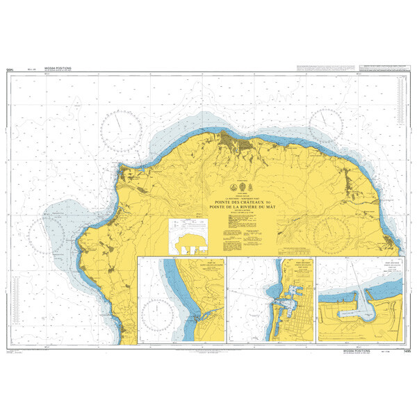 Pointe des Chateaux to Pointe de la Riviere du Mat. UKHO1495