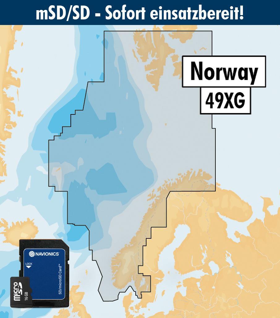 Navionics+ 49XG Norwegen (Norge, Norway) mSD