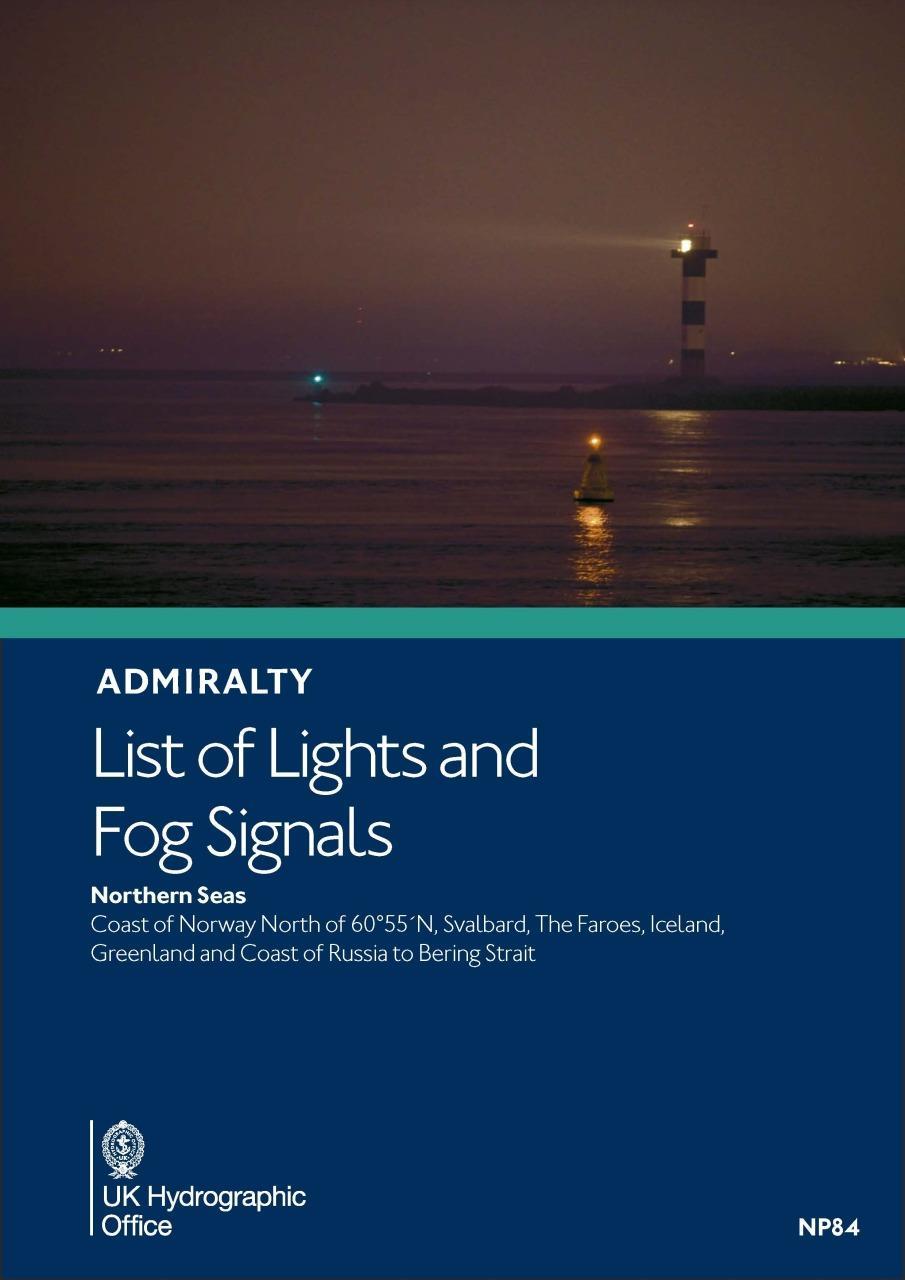 ADMIRALTY NP84 Lights List L - Northern Seas
