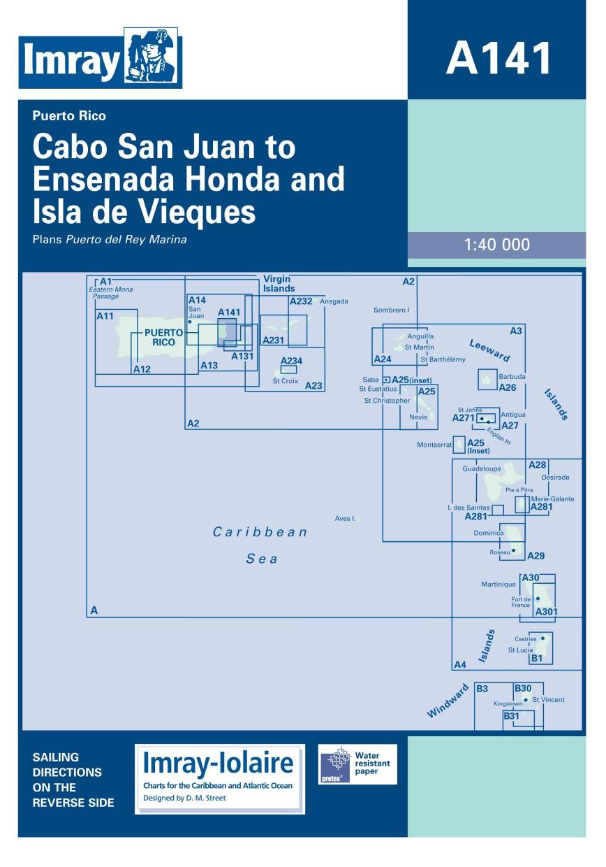 IMRAY CHART A141 Cabo San Juan to Ensenada Honda and Isla de Vieques